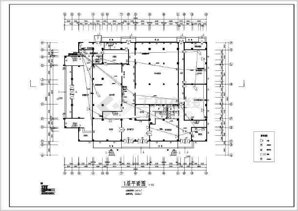 某地青少年宫的完整全套CAD施工图纸-图3