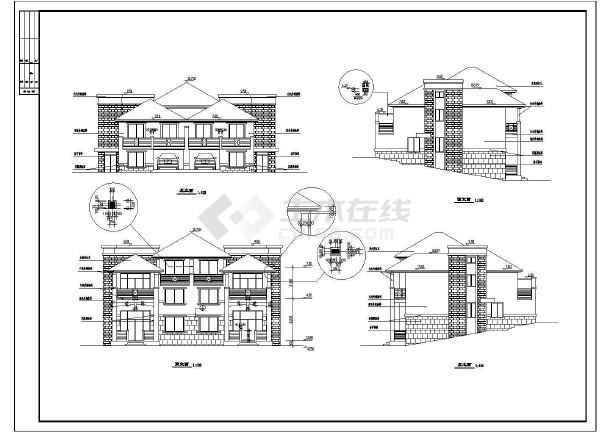 某地区单位山体建筑别墅v单位施工图尺寸改图纸sw全套怎么图片