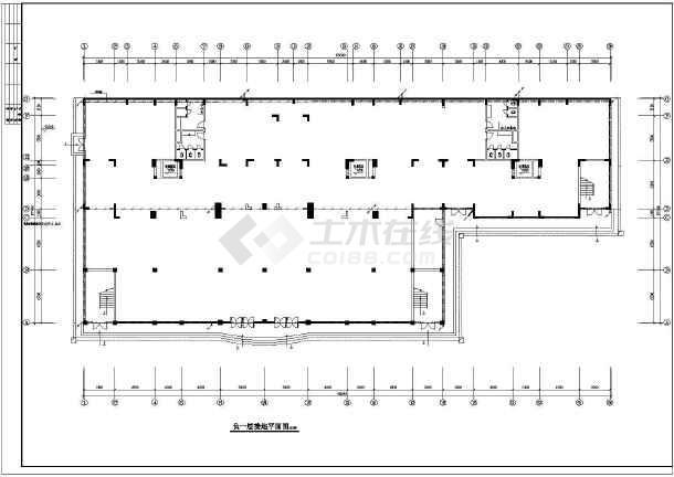 某地区商住综合楼强弱电全设计cad图