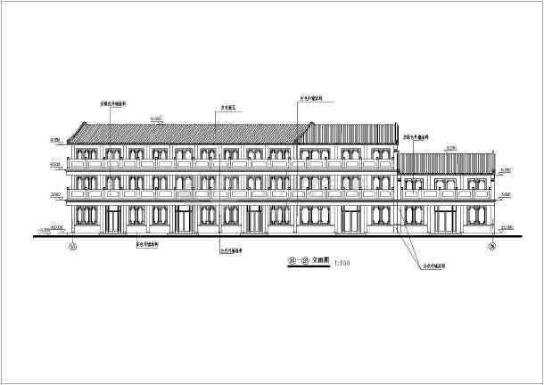 某地区仿古街道建筑设计CAD全套施工图-图2