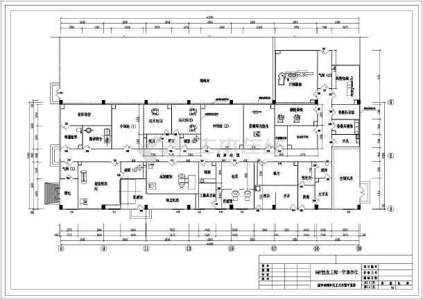 某药厂经典GMP工程cad平面施工方案图纸-图1