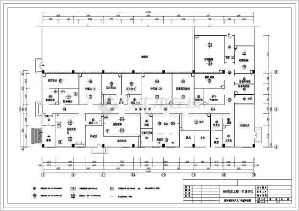 某药厂经典GMP工程cad平面施工方案图纸-图2
