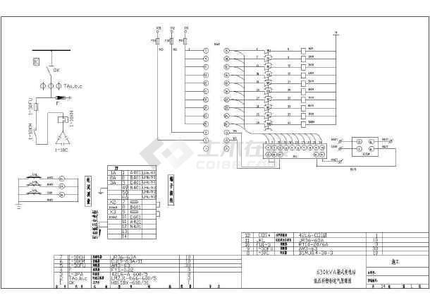 某地区630KVA箱变图纸设计CAD施工电气力安装举升机广图纸图片