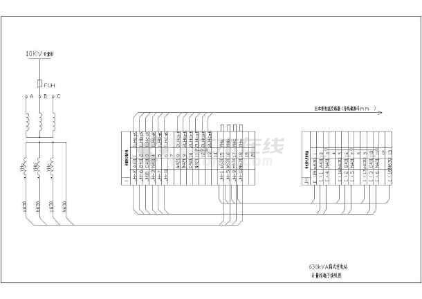 某地区630KVA箱变电气施工CAD设计图纸图纸上gsh10立方图片