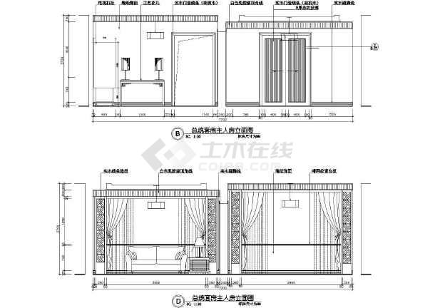 总统套房装修设计方案及施工全套cad图纸