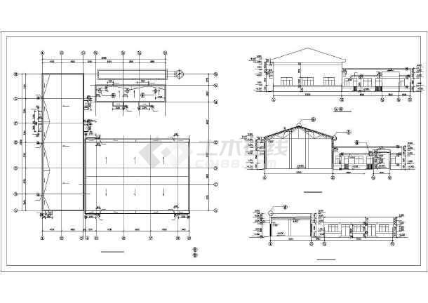 某地区农村锅炉房cad建筑施工图图纸单层两层半小别墅v农村经典图片