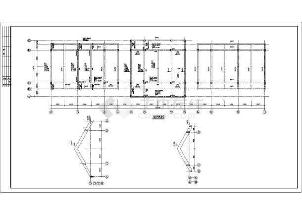 某市展览馆结构施工设计方案全套CAD图纸-图2