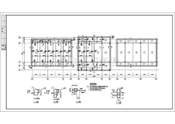 某市展览馆结构施工设计方案全套CAD图纸-图3