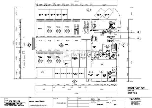 某地区汽车展厅建筑设计CAD图纸-图1
