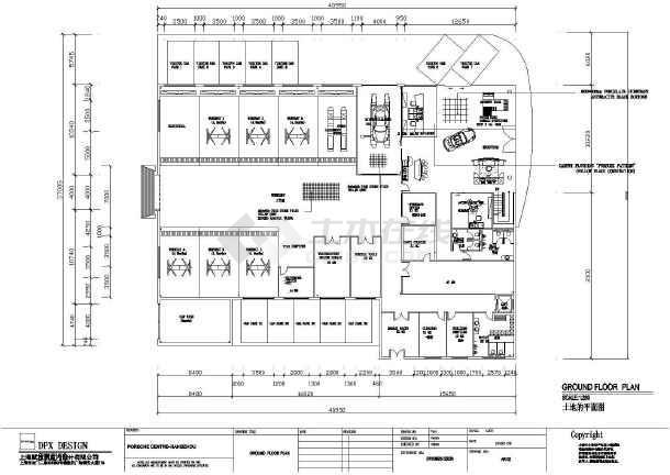 某地区汽车展厅建筑设计CAD图纸-图2