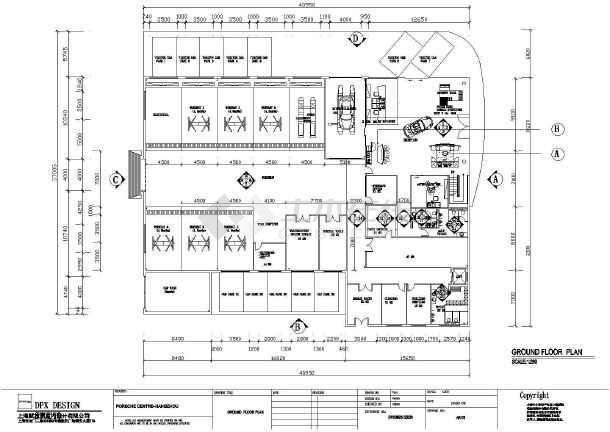 某地区汽车展厅建筑设计CAD图纸-图3