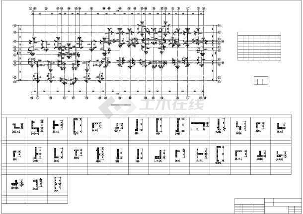 框支剪力墙结构住宅楼cad施工图纸-图2
