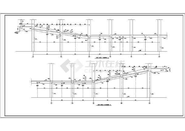 某地区报告厅建筑设计方案CAD图纸-图1