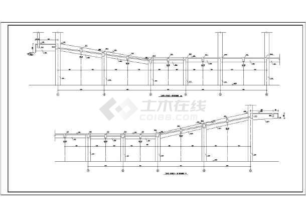 某地区报告厅建筑设计方案CAD图纸-图2