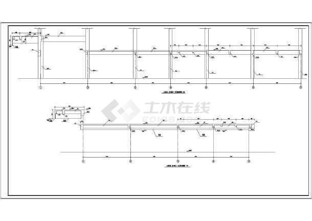 某地区报告厅建筑设计方案CAD图纸-图3