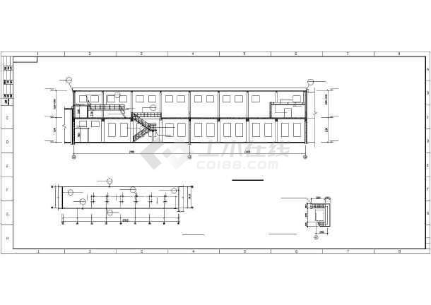 某地区钢结构厂房cad平立剖面图