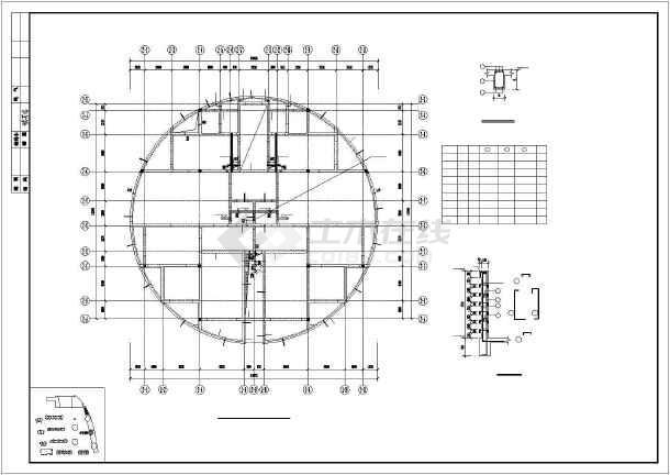 某19层楼纯剪结构住宅楼cad施工建筑工程图纸-图1