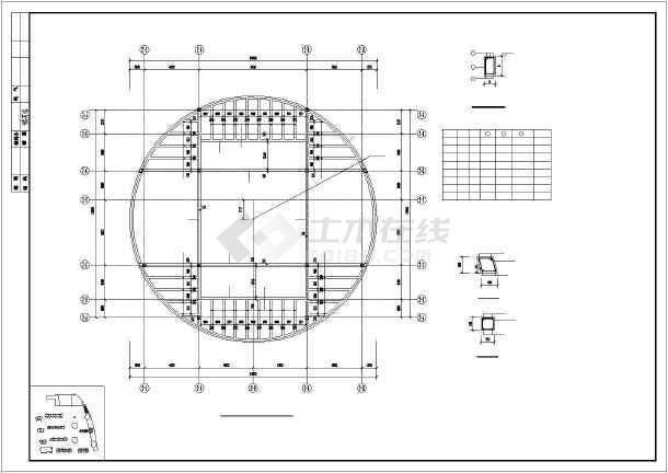 某19层楼纯剪结构住宅楼cad施工建筑工程图纸-图2