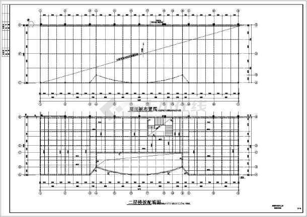 某地区二层全钢建筑设计展示厅图纸-图2