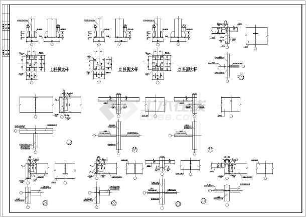 某地区二层全钢建筑设计展示厅图纸-图3