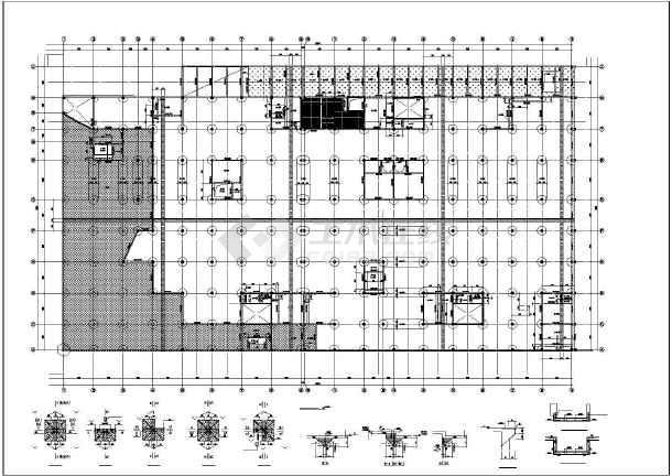 某建筑楼框支剪力墙结构cad施工图纸-图1