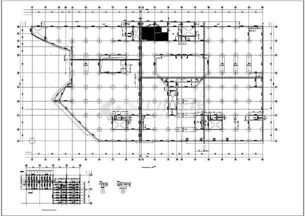 某建筑楼框支剪力墙结构cad施工图纸-图3