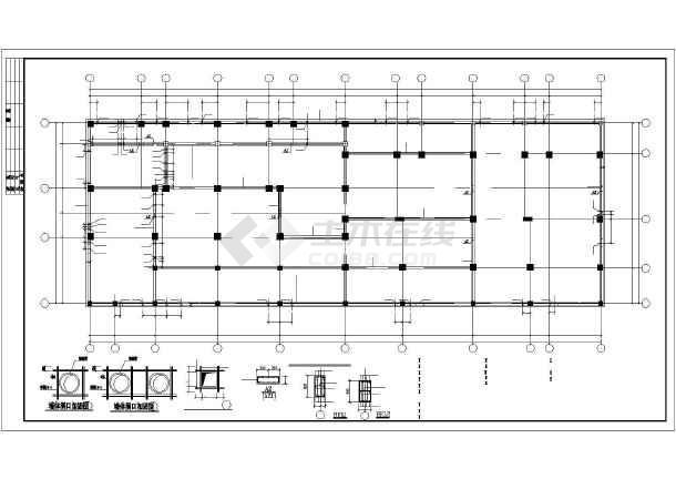 工框剪力墙高层住宅建筑cad施工设计图纸-图1