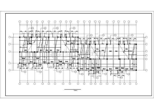 工框剪力墙高层住宅建筑cad施工设计图纸-图2