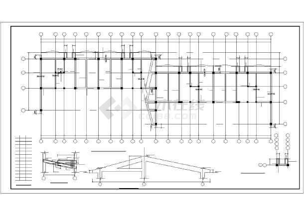 工框剪力墙高层住宅建筑cad施工设计图纸-图3