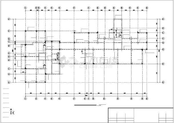 小高层纯剪框结构住宅楼cad工程设计图纸-图1
