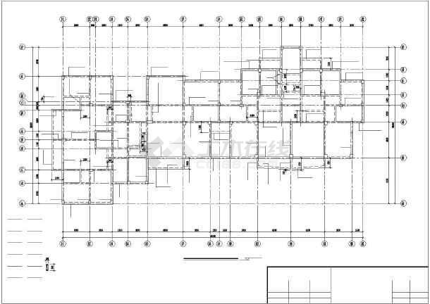 小高层纯剪框结构住宅楼cad工程设计图纸-图2