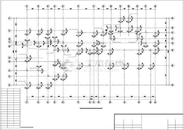 小高层纯剪框结构住宅楼cad工程设计图纸-图3