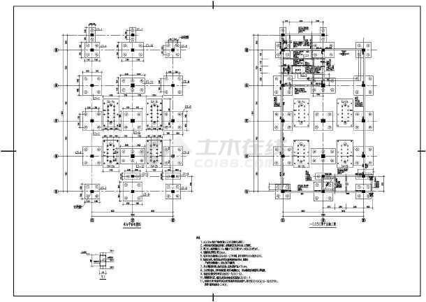 某地区框剪结构电控楼建筑结构施工图-图1