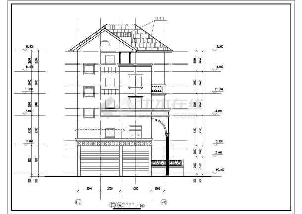 某地区错层别墅建筑结构施工图纸(全套)