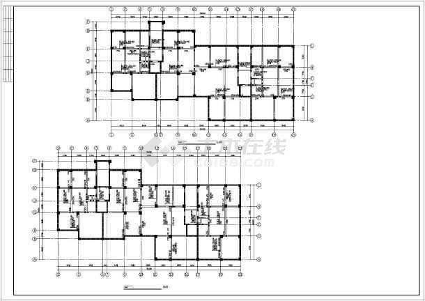 详细框剪结构住宅楼cad施工工程图-图1