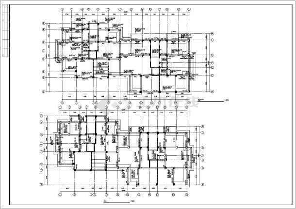 详细框剪结构住宅楼cad施工工程图-图2