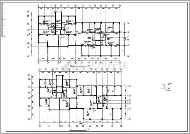 详细框剪结构住宅楼cad施工工程图-图3
