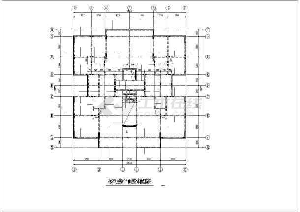 某小高层住宅楼框剪结构cad施工工程图-图2