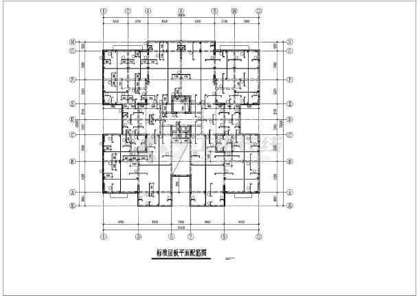 某小高层住宅楼框剪结构cad施工工程图-图3