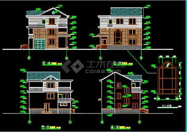 农村三层自建房建筑结构设计施工图