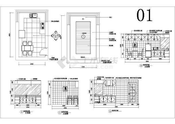 厨房图纸cad图纸_橱柜厨房cad橱柜大全免费下tbc皮fbv厨房纸图片