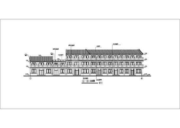 某仿古街建筑施工设计CAD方案详细图-图1