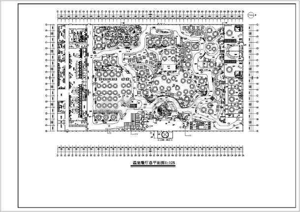 某生态餐厅设计施工CAD建筑平面图