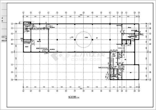 某地区大型商务楼建筑框剪结构图(全集)-图1
