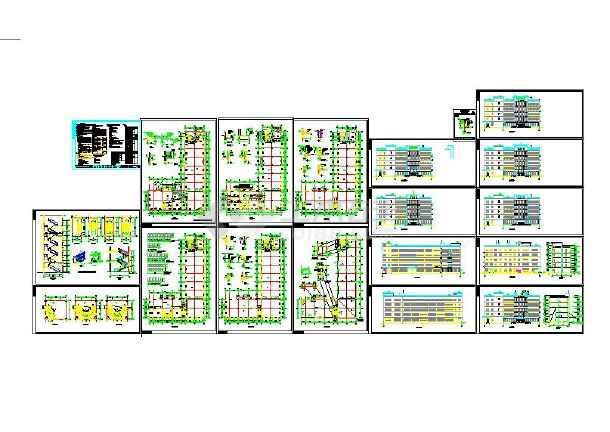 【史上最实惠】厂房车间311套厂房厂区办公建筑CAD图纸素材(整合大派送)-图3