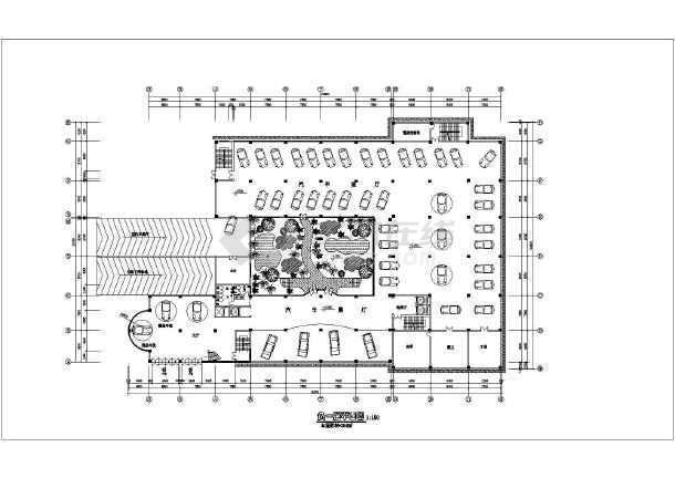 某地区汽车4s店平面图设计图纸方案