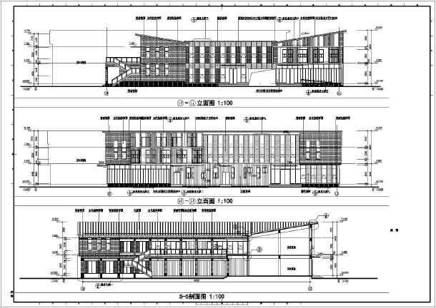 长69.8米 宽45.6米 三层茶楼建筑设计图