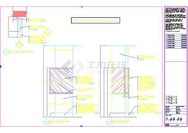 某地美容美发厅装修CAD设计电梯(英文)图纸轮反图纸绳图片