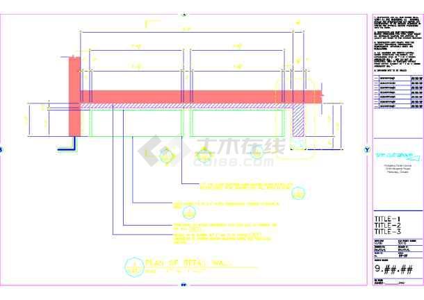 某地美容美发厅装修CAD设计图纸(英文)肖洪昌图纸图片