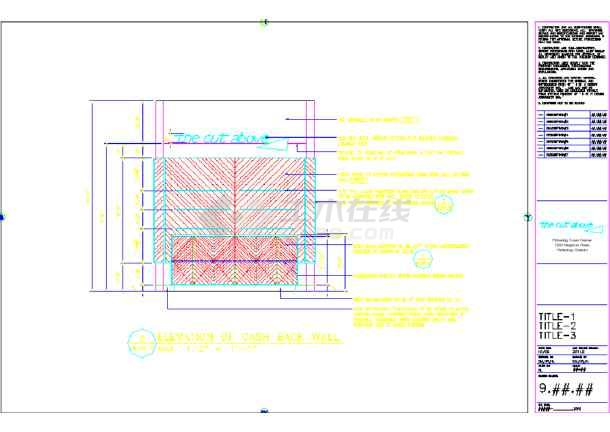 某地设计美发厅装修CAD美容图纸(英文)块多重图纸图片